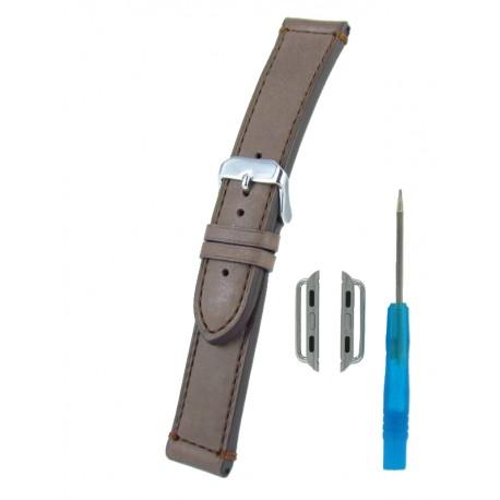 Bracelet pour Apple Watch Marron Clair Veau