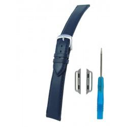 Bracelet pour Apple Watch Bleu Marine Cuir Vachette