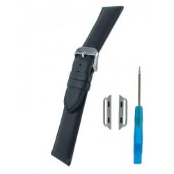 Bracelet pour Apple Watch Noir Cuir de Taureau
