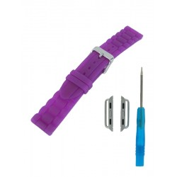 Bracelet Silicone pour Apple Watch Violet