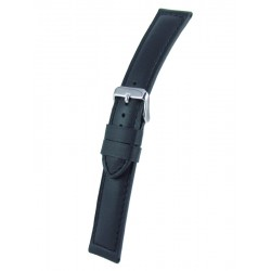 Black Padded Watch Band Cowhide