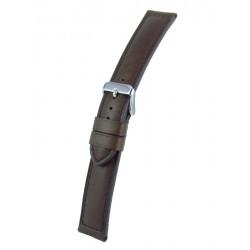 Bracelet Montre Marron Foncé Bombé Cuir Vachette