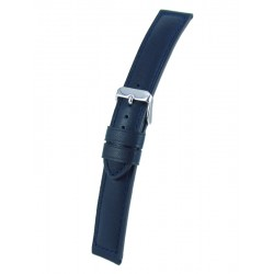 Navy Blue Padded Watch Band Cowhide