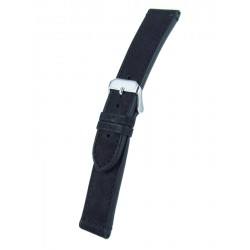Black calfskin watchband