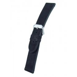 Bracelet montre noir cuir veau