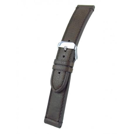 Bracelet montre marron cuir veau