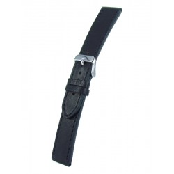 Black Vintage Leather Watch Strap