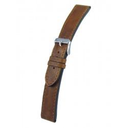 Bracelet montre gold cuir vintage vachette