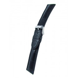 Black alligator grain watch band padded