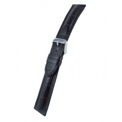 Dark Brown Alligator Grain Watch Strap Padded