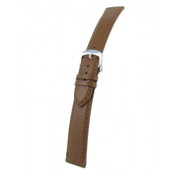Light Brown Leather Watch Strap - Flat