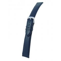 Bracelet montre plat bleu marine cuir vachette