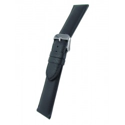 Black bullskin watch band