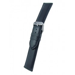 Navy blue bullskin watch band