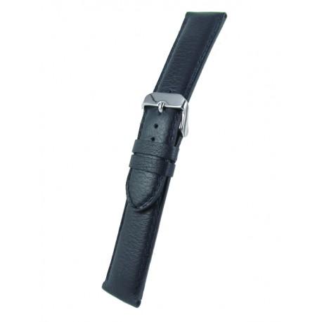Bracelet montre bleu marine cuir taureau
