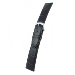 Dark Brown Flat Alligator Grain Watch Strap