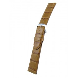 Light brown flat alligator grain watch band