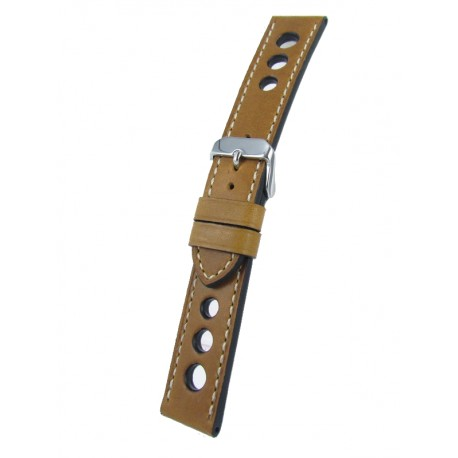 Light brown racing watch band