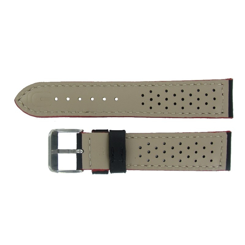 bracelet montre sport cuir perfor noir rouge. Black Bedroom Furniture Sets. Home Design Ideas