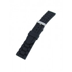 Black silicone watch band