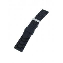 Bracelet Montre Noir Silicone Style Maillons