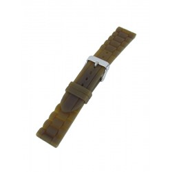 Brown silicone watch band