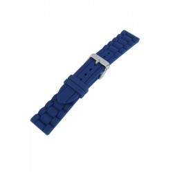 Bracelet Montre Bleu Marine Silicone Style Maillons