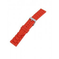 Bracelet montre silicone rouge style maillons