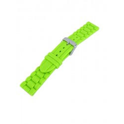 Bracelet montre silicone vert style maillons
