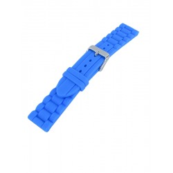 Bracelet montre silicone bleu clair style maillons