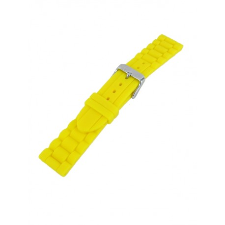Yellow silicone watch band