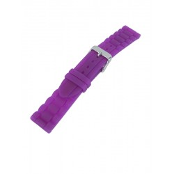 Bracelet Montre Violet Silicone Style Maillons