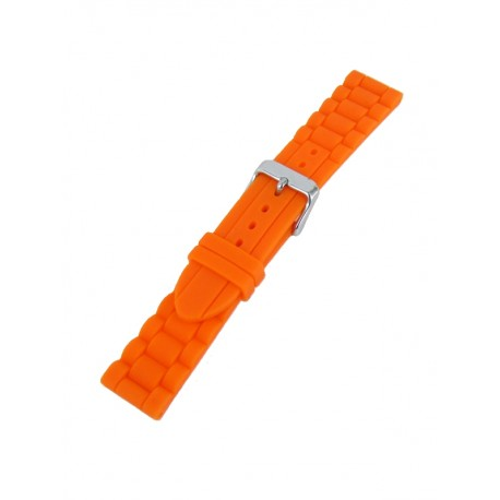 Orange silicone watch band