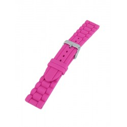 Pink silicone watch band