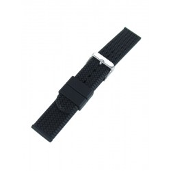 Black Tyre Tread Style Watch Strap