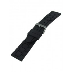 26mm Black silicone watch strap