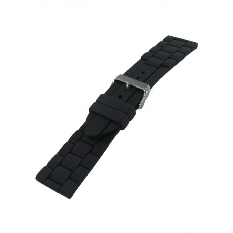 Bracelet montre silicone 26mm noir