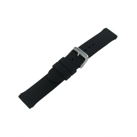 Bracelet montre noir silicone lisse