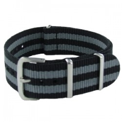 Bracelet Nato James Bond Noir/Gris