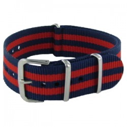 Bracelet Nato James Bond Bleu/Rouge