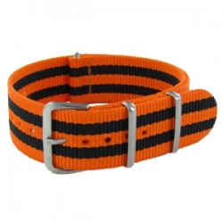 Bracelet Nato James Bond Orange/Noir