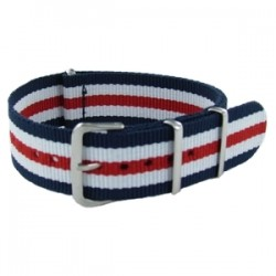 Bracelet Nato James Bond Bleu/Blanc/Rouge