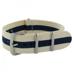 Bracelet Nato Beige/Bleu