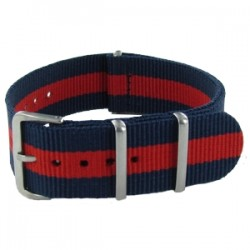 Bracelet Nato Bleu/Rouge