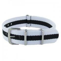 Bracelet Nato Blanc/Noir