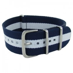 Bracelet Nato Bleu/Blanc