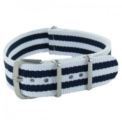Bracelet Nato James Bond Blanc/Bleu