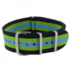 Black/Green/Blue Nato Strap