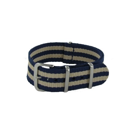 Bracelet Nato James Bond Bleu/Beige