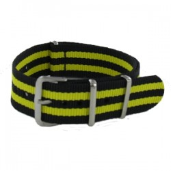 Bracelet Nato James Bond Noir/Jaune